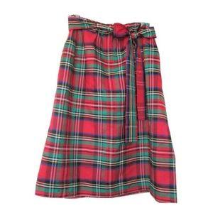 vintage plus size plaid skirt 14 16 1x